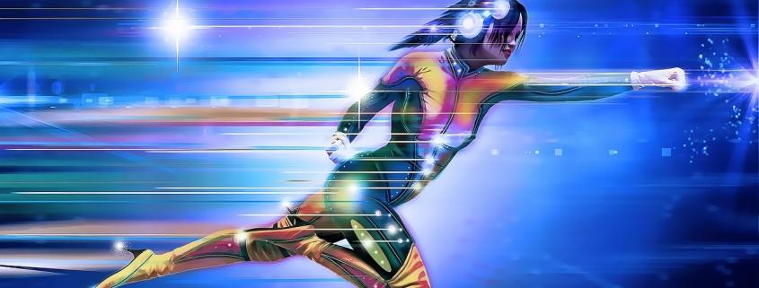 Un supereroe femmina che vola